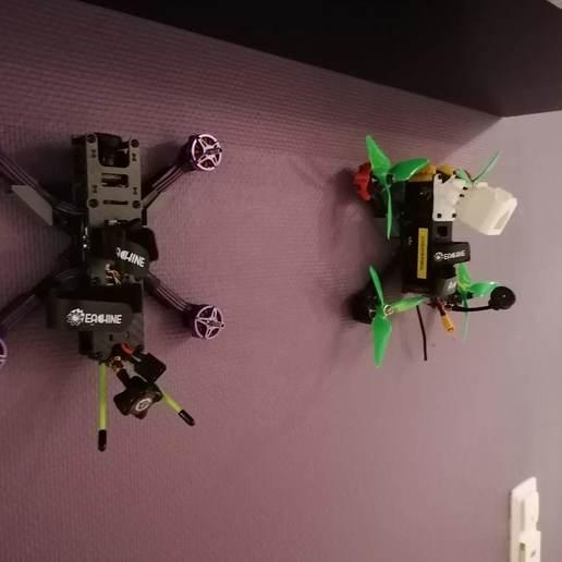 Download free STL file Quad/Drone Wall Mount • 3D printer model, eried