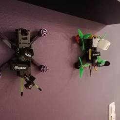 IMG_20200309_190732.jpg Download free STL file Quad/Drone Wall Mount • 3D printer model, eried