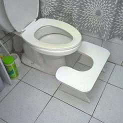 Télécharger STL gratuit Tabouret de salle de bains, eried