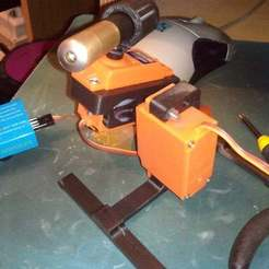 Download free 3D printing files Desktop Laser Turret with Kinect Head Tracking, eried