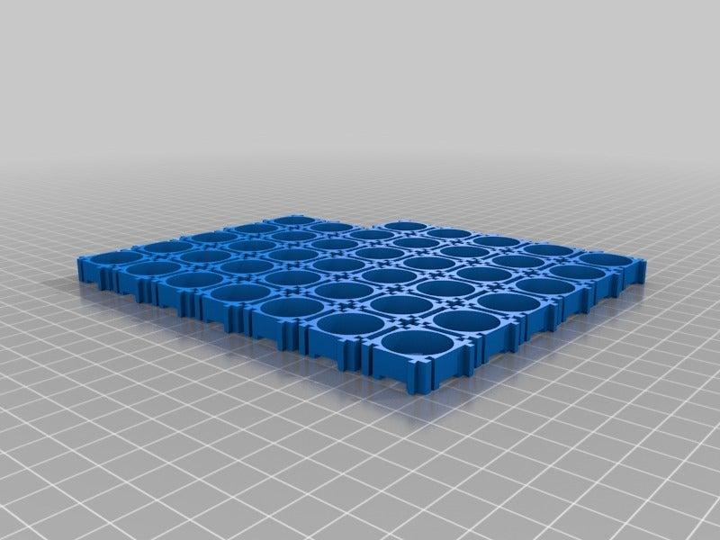 e8c9ad99679c71f60f343f8dd28a3545.png Télécharger fichier STL gratuit 18650 : espaceur/support amélioré • Objet imprimable en 3D, eried