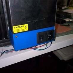 Télécharger modèle 3D gratuit Couverture du bloc d'alimentation pour le combo interrupteur+fusible+connecteur, eried