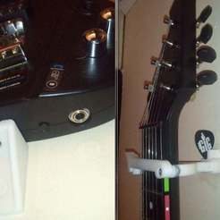 2012-05-07_2000_display_large.jpg Download free STL file Power Gig Guitar Xbox 360/PS3 wall mount • 3D printing model, eried