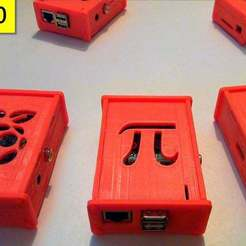 Download free 3D printing designs Improved customizable top cover case for the Raspberry Pi, eried