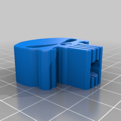 Punisher_paracord_bead.png Download free STL file Punisher bead for paracord 555 • 3D print model, justinmcleish2