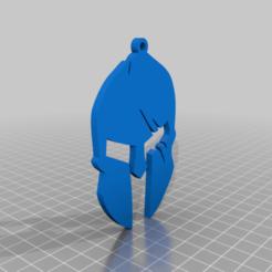 Télécharger fichier imprimante 3D gratuit Porte-clé casque spartiate, justinmcleish2