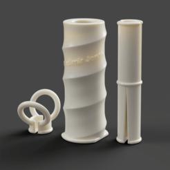 Lint roller 1-.png Download OBJ file Lint roller, BÄSTIS • 3D printing design, VladimirJonas