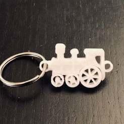 IMG_6320.jpg Download free STL file Train Keychain • Template to 3D print, charleshuangfei