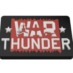 Download free 3D printer designs War Thunder Sign, charleshuangfei