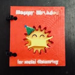 IMG_7072.jpg Télécharger fichier STL gratuit Carte d'anniversaire de la distance sociale imprimée en 3D • Plan à imprimer en 3D, charleshuangfei