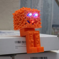 IMG_1300.JPG Download free STL file 3D Printed Minecraft Pumpkin Figure  • 3D printer object, charleshuangfei