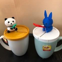 panda.jpg Télécharger fichier STL gratuit Porte-sachet de thé imprimé en 3D • Design pour impression 3D, charleshuangfei