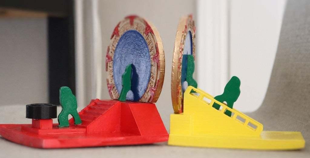 IMG_0861_1.jpg Download free STL file Stargate Bookend • 3D print design, charleshuangfei