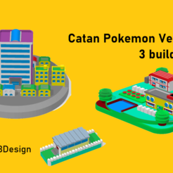 pokemon_catan_fire_red.png Download STL file Catan pieces - Pokemon Fire red • Object to 3D print, japsol3design