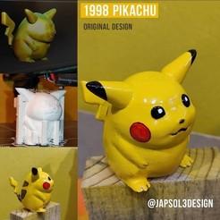 pikachu_pokemon.jpg Download STL file 1998 pikachu • 3D printing template, japsol3design