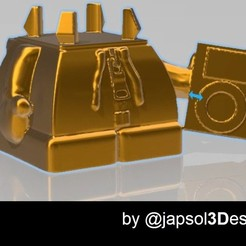Download 3D printer templates Rubik's cube base holder, japsol3design