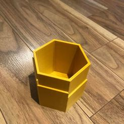 Download free 3D printing designs Hexagon planter pot, bossnics