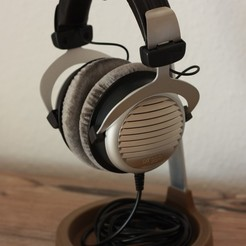 _MG_5004_2.jpg Download free STL file Hybrid Headphone Stand • 3D printable design, Nau-Tec