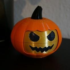 1.JPG Télécharger fichier STL Tête de citrouille smiley polyvalente pour Halloween • Plan imprimable en 3D, Nau-Tec