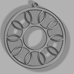 Circles within circle_1.png Télécharger fichier STL gratuit Boucle d'oreille ou collier circulaire simple 2 • Objet imprimable en 3D, Bukszpryt