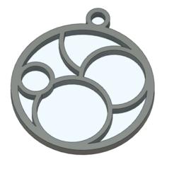 Download free 3D printer model Simple circular earring or necklace, Bukszpryt