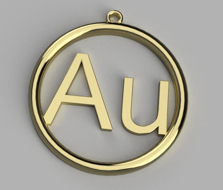 Aurum.png Télécharger fichier STL gratuit Pendentif en or • Modèle pour imprimante 3D, Bukszpryt