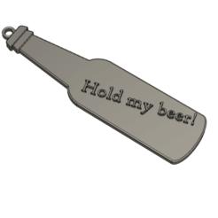 Download free 3D printer files Hold my beer! key chain pendant, Bukszpryt