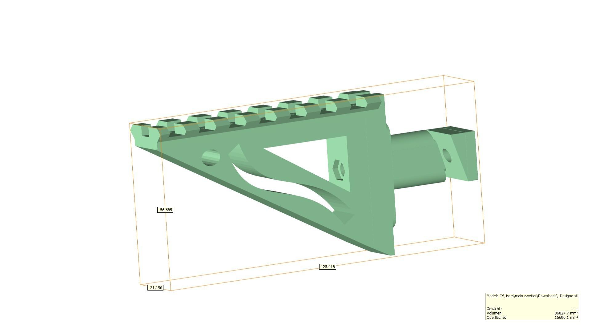 1Designe.jpg Télécharger fichier STL gratuit Airsoft AA-12 auto shotgun rail • Modèle à imprimer en 3D, Lumpilein