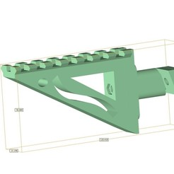 Download free STL file Airsoft AA-12 auto shotgun rail • 3D printer template, Lumpilein