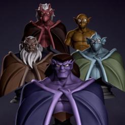 DQ_Gargoyles pack_v01.png Download STL file Gargoyles pack v01 • 3D print object, DerianQ