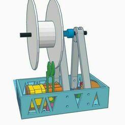1.stl.jpg Télécharger fichier STL gratuit Bobineuse de filaments compacts MK2 • Objet pour impression 3D, francescangelif