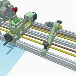 "1.jpg Download STL file CNC Lathe 450mm ""Iron worm"" • Template to 3D print, francescangelif"