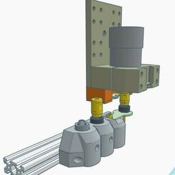 0.jpg Download STL file SATC V3 Simplest Automated Tool Changer Kit • 3D print object, francescangelif
