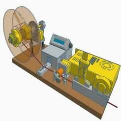 1.jpg Télécharger fichier STL gratuit Enrouleur de bobine, capteur de diamètre et refroidisseur • Modèle imprimable en 3D, francescangelif