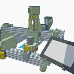 """1.jpg Download STL file CNC_V10 """"Long Tall Sally"""" 3 motors T8-2 • 3D printer design, francescangelif"""