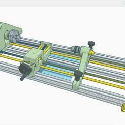 1.jpg Download free STL file Lathe 4 speeds 450mm • 3D printing object, francescangelif