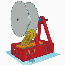 View_5.jpg Télécharger fichier STL gratuit Bobineuse de filaments compacts • Modèle imprimable en 3D, francescangelif