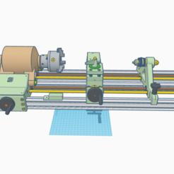 "1.png Download STL file CNC lathe ""Iron worm"" washing machine BLDC motor driven • 3D printing design, francescangelif"