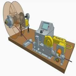 1.jpg Télécharger fichier STL gratuit V2 Enrouleur de bobine auto/manuel, capteur de diamètre et refroidisseur • Design pour impression 3D, francescangelif