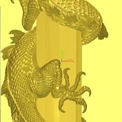 Dragon1.jpg Télécharger fichier STL 3d relief dragon • Plan pour imprimante 3D, 3drelieffiles