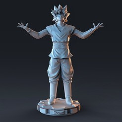 dbz.1258.jpg Télécharger fichier STL goku rose Dragon Ball • Design pour imprimante 3D, cesarin42