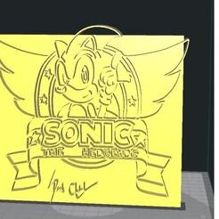 1sonic.jpg Download STL file sonic • 3D print model, tactique32