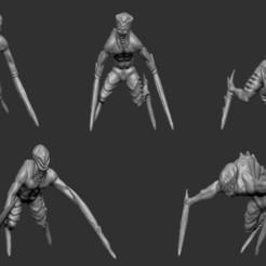 22.jpg Download STL file Nightmare Demons • 3D printable template, Horribleminiatures