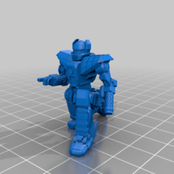 Her-6D-kneel.png Download free STL file 6mm Mech Hermes II (6D) • 3D printing model, Cato_Zilks