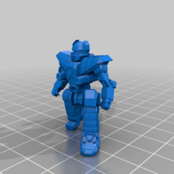 HER-4K-kneel.png Download free STL file 6mm Mech Hermes II (4K) • 3D printing design, Cato_Zilks