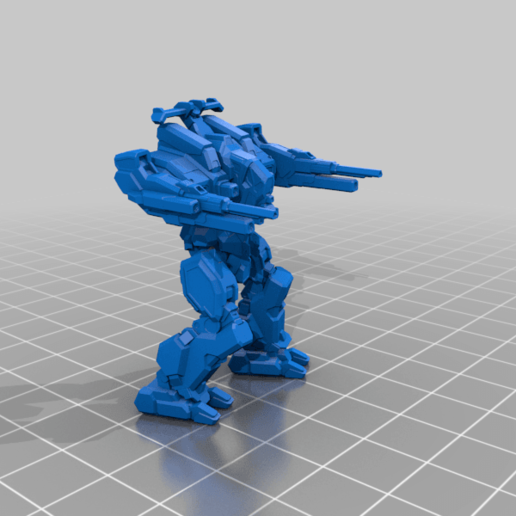 Download free 3D printing templates 6mm mech named after a man holding a rifle (7M), Cato_Zilks