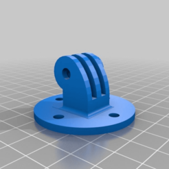 527016fd42ac49d64c7ed2999032d438.png Download free STL file Another type of GoPro or Garmin Cameras Mount fixed with bolts • 3D printable template, ales3d