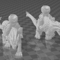 Drake Riders.PNG Download free STL file Primary Lizard Riders • 3D print object, ryanpowell90