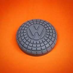 VW_Horn_Colorful_Background.jpeg Download free STL file Volkswagen Beetle Horn Button (1960-1971) • 3D print design, ehans1c