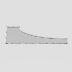 "Combat Gauge.png Descargar archivo STL Cola de Dragón (9"" Wargaming Combat Gauge) • Modelo imprimible en 3D, TaylorMadeGamingAccs"